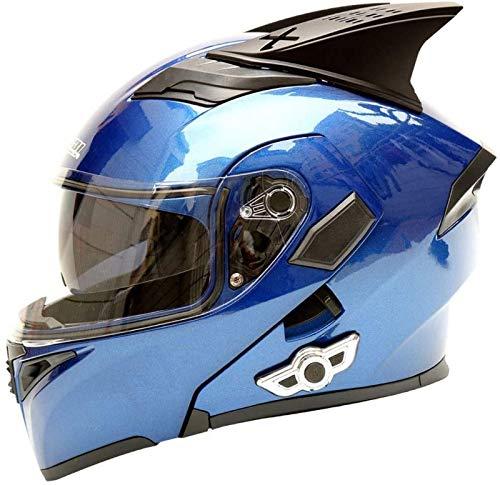 EBAYIN Cascos modulares Casco de Motocicleta Tipo Abatible con Bluetooth, Casco de Motocicleta de Cara Completa Modular Antiniebla Dot ECE, Adecuado para Hombres y Mujeres,E-L=(59~60cm)