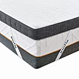 <span class='highlight'>Inofia</span> Sleep <span class='highlight'>Double</span> <span class='highlight'>Mattress</span> Topper <span class='highlight'>Gel</span> <span class='highlight'>Memory</span> <span class='highlight'>Foam</span>, 7.5CM <span class='highlight'>GEL</span>EX Infused Responsive Support <span class='highlight'>Foam</span> with Cover, Washable & Removable, Dual Layer Bed Topper for Pressure Relief,100-Night Trial(140x200cm)