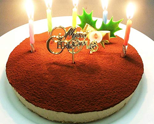 クリスマスケーキ 糖質75%カット 低糖質 生チョコレア チーズケーキ 5号(ローソク・Xmasプレート・柊ピック・カード付)(お届け日12月22日〜24日)(糖質制限 チョコレートケーキ 砂糖不使用 スイーツ クリスマス ケーキ)