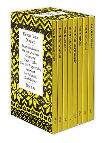 Dramen: 8 Bände im offenen Schuber: Baumeister Solness | Die Frau vom Meer | Gespenster | Hedda Gabler | Nora (Ein Puppenheim) | Peer Gynt | Ein ... | Die Wildente (Reclams Universal-Bibliothek)