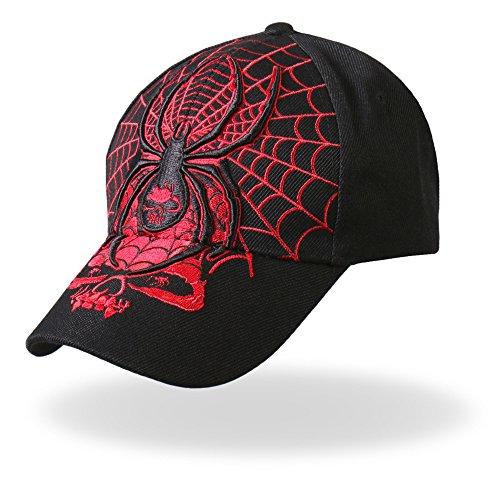 Hot Leathers - BCA1014 Widow Ball Cap (Black)