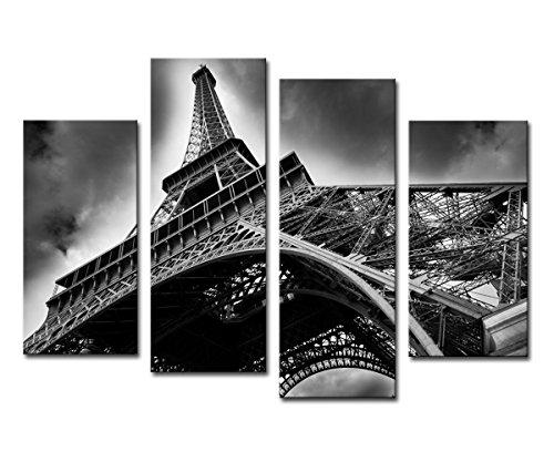 High quality Canvas print Unframed Black and white Paris