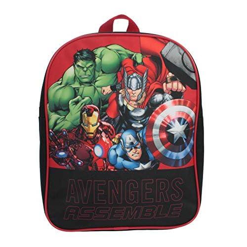 Marvel, zaino ufficiale per ragazzi e ragazze e adulti, zaino da viaggio per bambini Capitan America Thor Iron Man Hulk