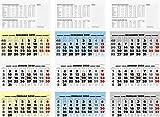 BRUNNEN 107021395 Wandkalender/Drei-Monats-Kalender Modell 702 13 (1 Blatt = 3 Monate, 340 x 790 mm, Kalendarium 2020)