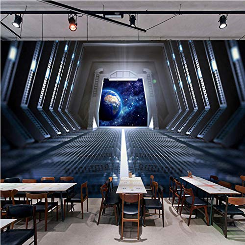Ponana Papel Tapiz Fotográfico Personalizado 3D Estéreo Personalidad Espacio Cápsula Bar Ktv Restaurante Café Telón De Fondo Mural Moda Moderna-120X100Cm