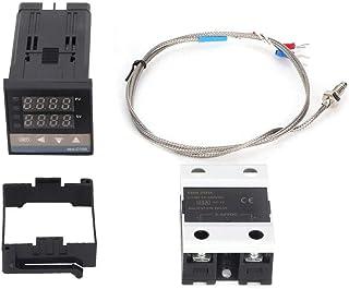 REX-C100 cyfrowy inteligentny termostat LED PID zestaw AC110V-240V 0℃ ~ 400℃