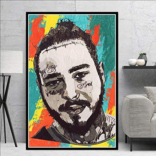 SQSHBBCHip Hop Rapper Musik Sänger Star Art Malerei Poster und Drucke Leinwand Wandbilder für Wohnzimmer Home Decor A8 60x90cm No Frame