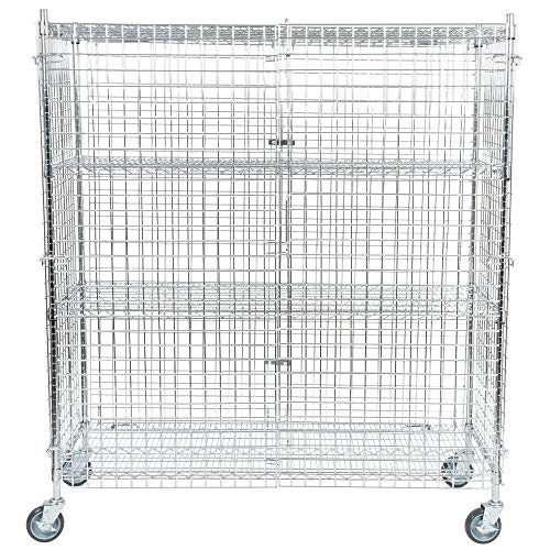 TableTop King NSF Mobile Chrome Wire Security Cage Kit - 24