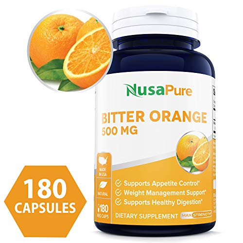 Bitter Orange 500mg 180 Veggie Caps (Vegetarian, Non-GMO & Gluten Free) - Weight Loss Supplement -...