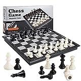 TTSHOP Juego de ajedrez magnético de Viaje: Juego de Mesa Plegable, portátil y Educativo, Bolsa para niños y Adultos, Regalo, Juguete de Aprendizaje, Regalo, 12,5 x 12,5 x 1,57 Pulgadas