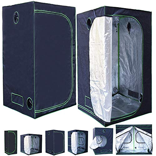 Rapid Teck® Grow Zelt (100 x 100 x 200 cm) Home Grow Tent   Indoor Growzelt   schwarz grün   Growroom Growschrank Darkroom Pflanzenzelt Gewächshaus Zuchtzelt Growzelt