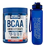Applied Nutrition Bundle: BCAA Amino Hydrate Powder 450g + Lifestyle Water Bottle 1000ml | Branched Chain Amino Acids Supplement with Electrolytes, B Vits, Intra Workout & Recovery (Fruit Burst)