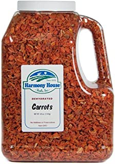 Harmony House Foods, Dehydrated Carrots (64 oz, Gallon Size Jug)