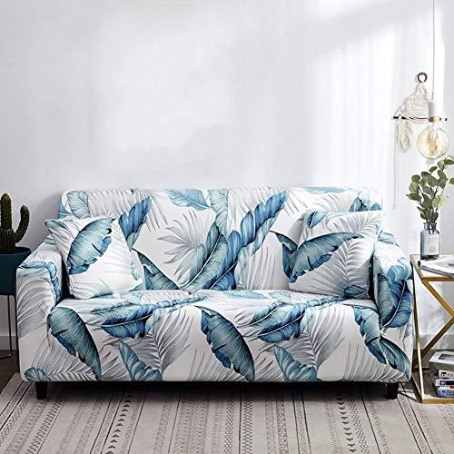 Moderne Gedruckt Sofabezüge Sofaüberwurf Elastische Couch Abdeckungen Universell Sectional Sofabezug Anti-Slip Sofa-Protector Für L-Shape Couch U-fürm Sofa-24 3 Seater(75-90inch)