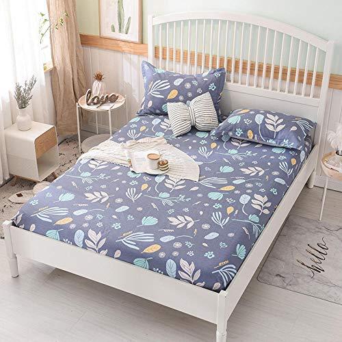 HPPSLT Protector de colchón/Cubre colchón Acolchado, Ajustable y antiácaros. Sábana de algodón Antideslizante de una Sola pieza-19_1.35 * 2m