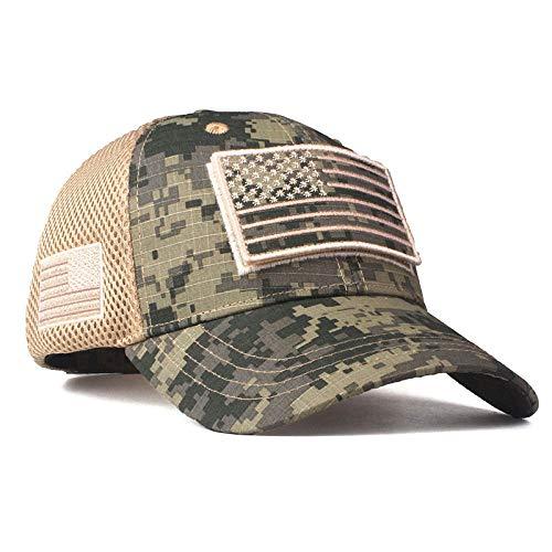 Usa Flag Camouflage Baseballmütze für Men'snapback Hat Army American Flag Baseballmütze Bone Trucker Gorras, Camouflage, 2,56To60cm