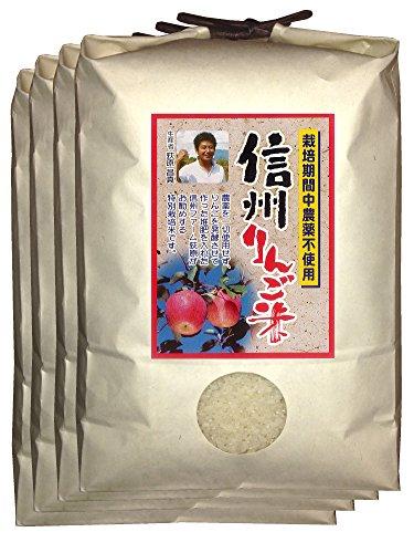 【新米】白米 信州りんご米 こしひかり 18kg(4.5kg×4) 令和2年産