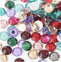 diamond shaped multi color stones