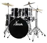 """XDrum Semi 22"""" Standard Schlagzeug Midnight Black Set schwarz"""