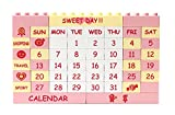 Big Creative Building Block Puzzle Kalender Ewiger Kalender Rosa