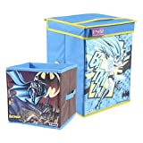 Batman Kid's Toys Organizer, Storage Box (Blue, Big and Small), Set of 2