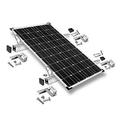 Offgridtec© Befestigungs-Set für 1 Solarmodul - für Dachziegel