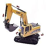 Elektrischer Bautraktor mit RC Fernbedienung Bagger Modell Spielzeug für Kinder, MMLC 1:24 Bagger Sandkasten Modell Engineering Fahrzeug hohe Simulation Modell Spielzeug Kinder Geschenk (Mehrfarbig)