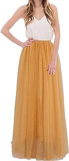 Women Floor Length A-line Tulle Skirt Bridal Bridesmaids Wedding Party Long High Waisted Tutu