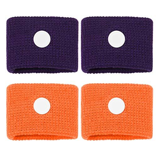 Healifty Bewegingsziekte Relief Polsbandjes Acupressuur Anti-misselijkheid Relief Band voor Zee Auto Vliegen Zwangere Reisziekte Armband 2 paar (willekeurige kleur)