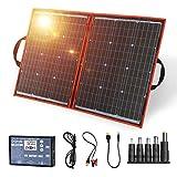 Best Portable Solar Panels - DOKIO 100W Portable Foldable Solar Panel Kit Lightweight(6lb,29x21inch) Review