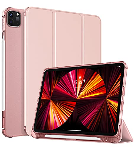 TiMOVO Custodia Compatibile con New iPad PRO 11 inch 2021 (3rd Gen), Cover Tablet in TPU con Supporto Porta Penna Auto Svegliati Sonno Ultra Sottile per iPad PRO 11  2021 - Oro Rosa