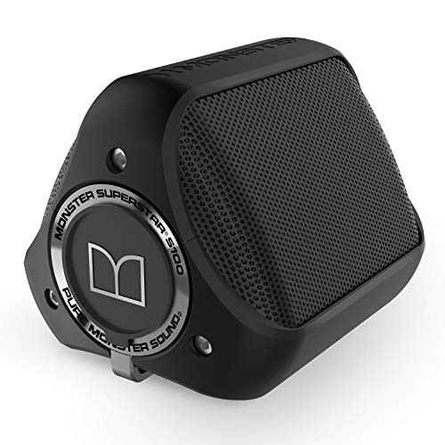 Monster S100 - Altavoz portátil con Bluetooth, Color Negro
