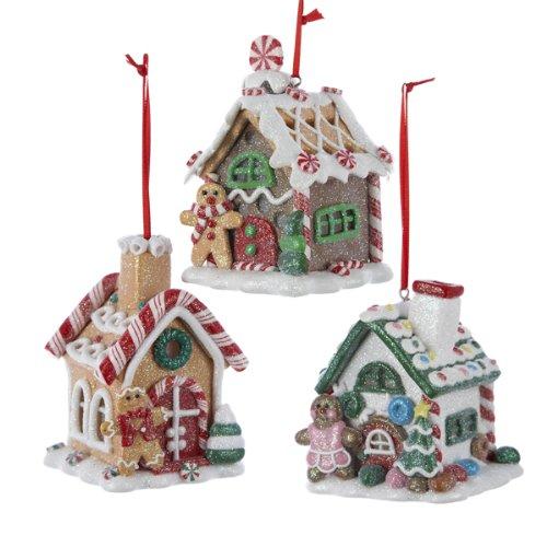 3.5' CLAYDOUGH Gingerbread LED House Ornament