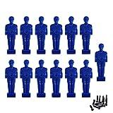 Zkung sports Futbolín con figuras de fútbol para hombre, para barras de 1/2 pulgadas, incluye juego de tornillos, color azul, 13 unidades