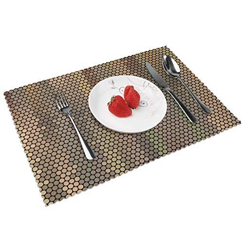 Manteles Individuales Tonos Tierra 504, Mantel Individual Antideslizante Resistente Al Calor Salvamanteles Juego De 4 para La Mesa De Comedor De Cocina, 45x30 Cm