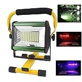 DLILI Foco Obra con batería LED 100W 8000LM Foco construcción portátil Recargable, [100Leds, 1000W Equivalente] Luz...