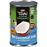 Thai Kitchen Organic Unsweetened Lite Coconut Milk, 13.66 fl oz (Pack of 6)
