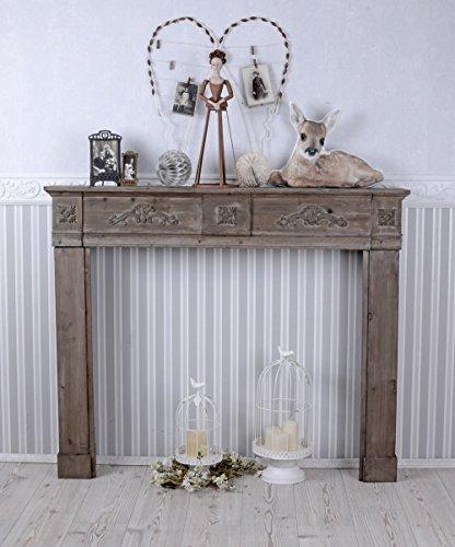 Romantische Kaminumrandung, Wandverzierung, Kaminrand, Kamin, Kamindekoration für schöne Wohnambiente, ideal für Wohnzimmer, Arbeitszimmer oder Kaminzimmer, einzigartig schönes Möbelstück - Palazzo Exclusive