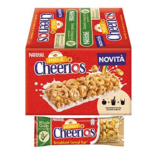 Cheerios Barretta di Cereali Integrali al Miele con Base al Latte, 16 Pezzi