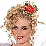 Forum Novelties Party Supplies Unisex-Adults Mini Queen Crown, Gold, Standard, Multi