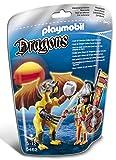 PLAYMOBIL Dragones - Dragón Roca con Guerrero, Juguete Educativo, Multicolor, 17 x 8 x 24 cm, (5462)