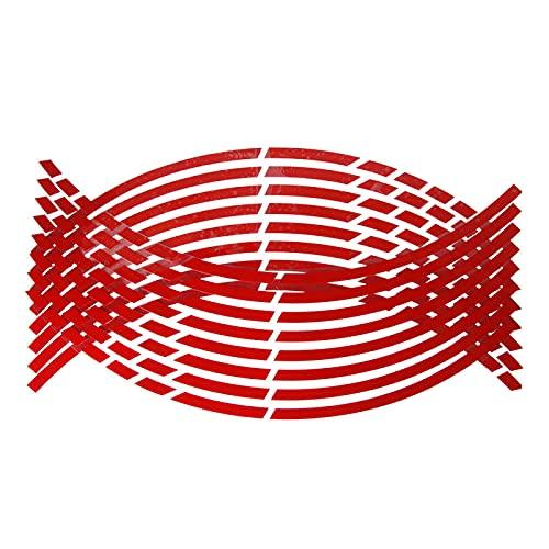 QOHFLD Pegatinas Reflectantes para neumáticos de Rueda de Coche de Motocicleta, para VW-Golf VII, para Ford-Fiesta, para Seat-Ibiza III, para Hyundai-Elantra