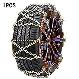 Cadenas de nieve de neumáticos de coche 3 UNIDS / SET UNIVERSAL CAJA DE NIEVE Cadena de nieve Cinta de la rueda de la rueda de la rueda de la rueda de la rueda del acero inoxidable Cadenas de nieve fo