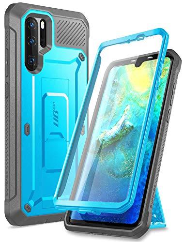 SUPCASE Huawei P30 Pro Hülle 360 Grad Schutzhülle Robust Handyhülle Bumper Hülle Cover [Unicorn Beetle Pro] mit Integriertem Bildschirmschutz & Ständer für Huawei P30 Pro 2019 (Blau)