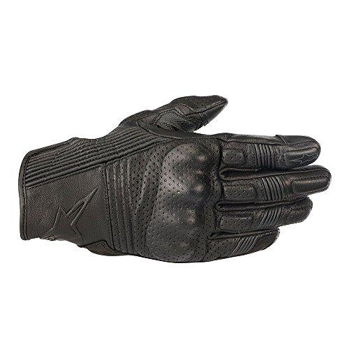 Alpinestars Men's Mustang V2 Leather Motorcycle Glove, Black/Black, 2X-Large