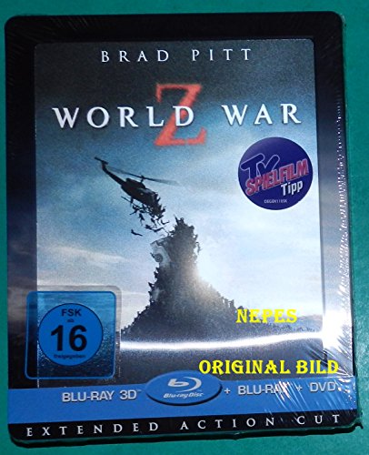 WORLD WAR Z - Extended Action Cut 2D + 3D Limited Edition Steelbook mit Lenticular - Blu-ray