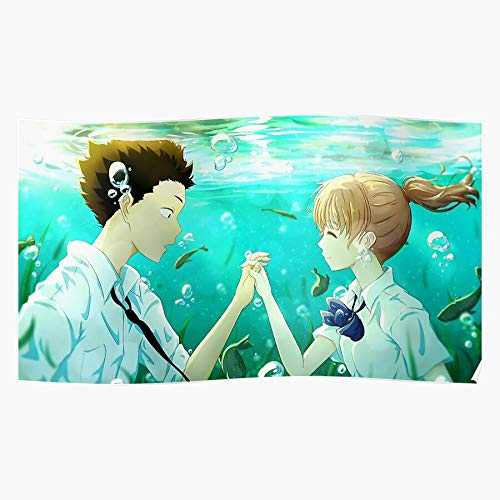Hockwood Anime Koe A Katachi No Silent Voice Manga Impressive and Trendy Poster Print Decor Wall or Desk Mount Options