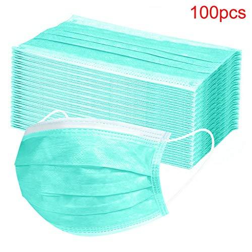 MaNMaNing Protección 3 Capas Transpirables con Elástico para Los Oídos Pack 100 unidades 20200702-MANING-A096