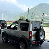 wuwenjun Materiale ABS Spoiler alettone Posteriore per Auto Colore Primer per Spoiler Suzuki jimny con Luce LED 2007-2016