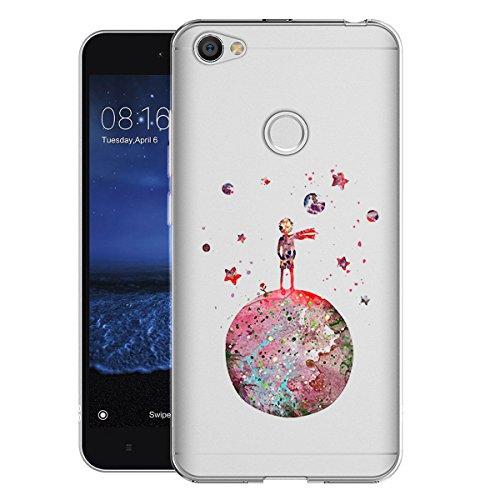 Caler Funda Compatible para Xiaomi Redmi Note 5A Case,Suave TPU Gel Silicona Ultra-Delgado Ligera Anti-rasguños Protección Patrones Imaginación Carcasa (Pequeño Príncipe Principito)